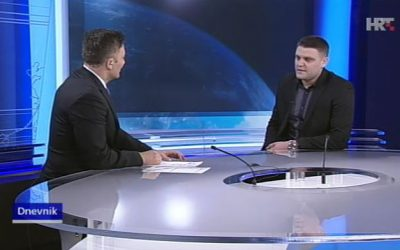 Gostovanje Tomislava Teria, glavnog tajnika OS-MUP-a u Dnevniku HRT-a